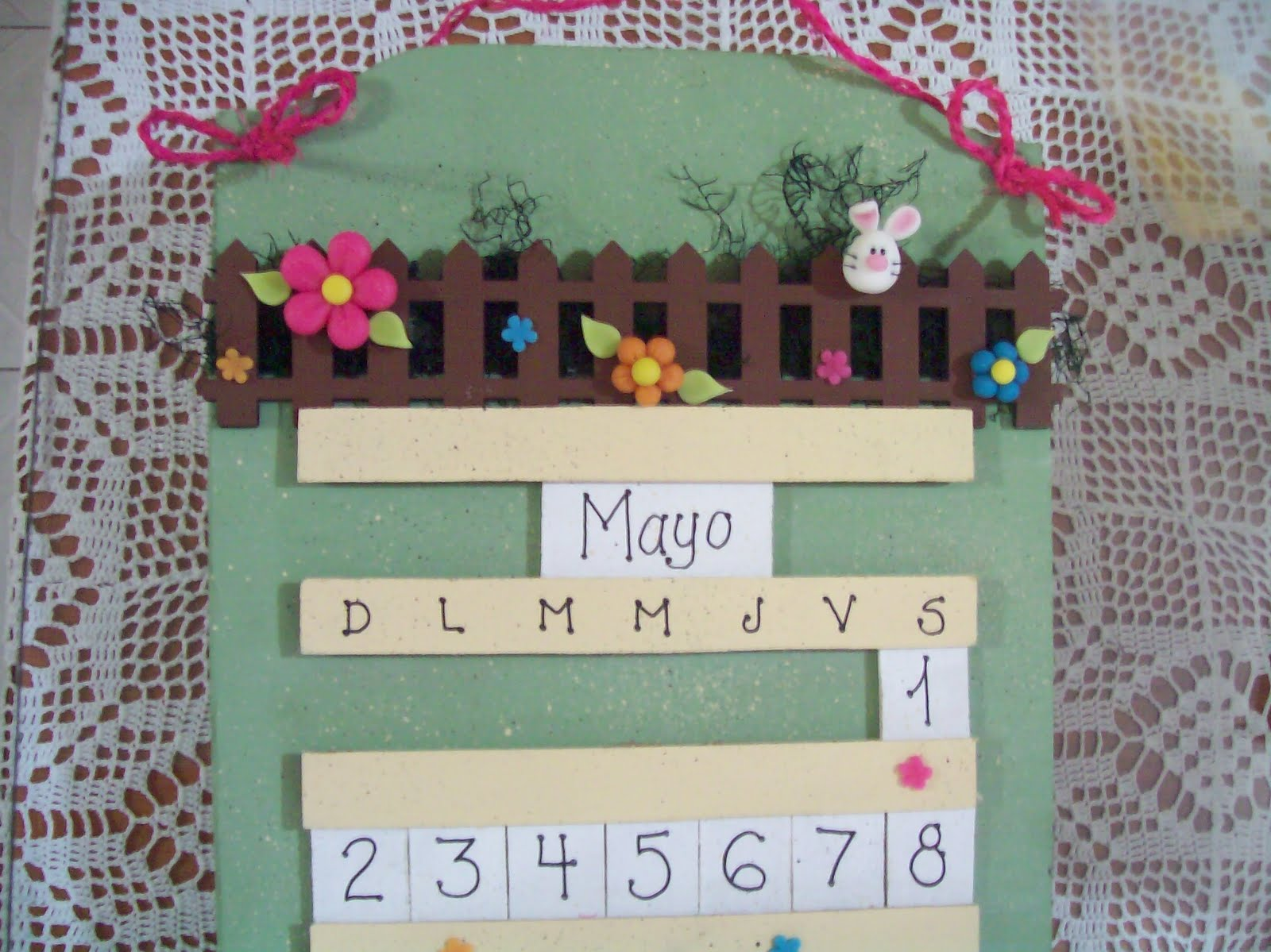 Calendario en foami imagui for Calendario manualidades