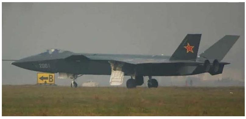 a Chinese stealth fighter