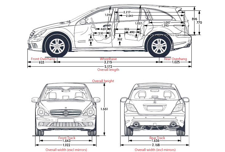 similiar standard car dimensions in feet keywords