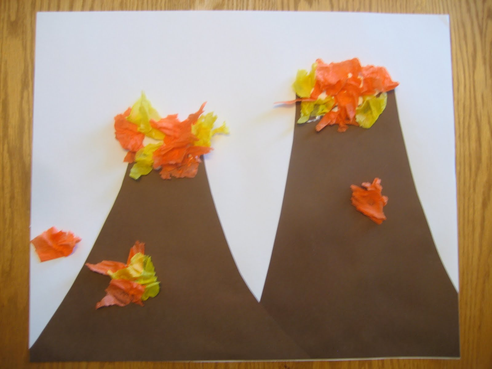 Dinosaur arts and crafts - Volcano Art And Science Experiment