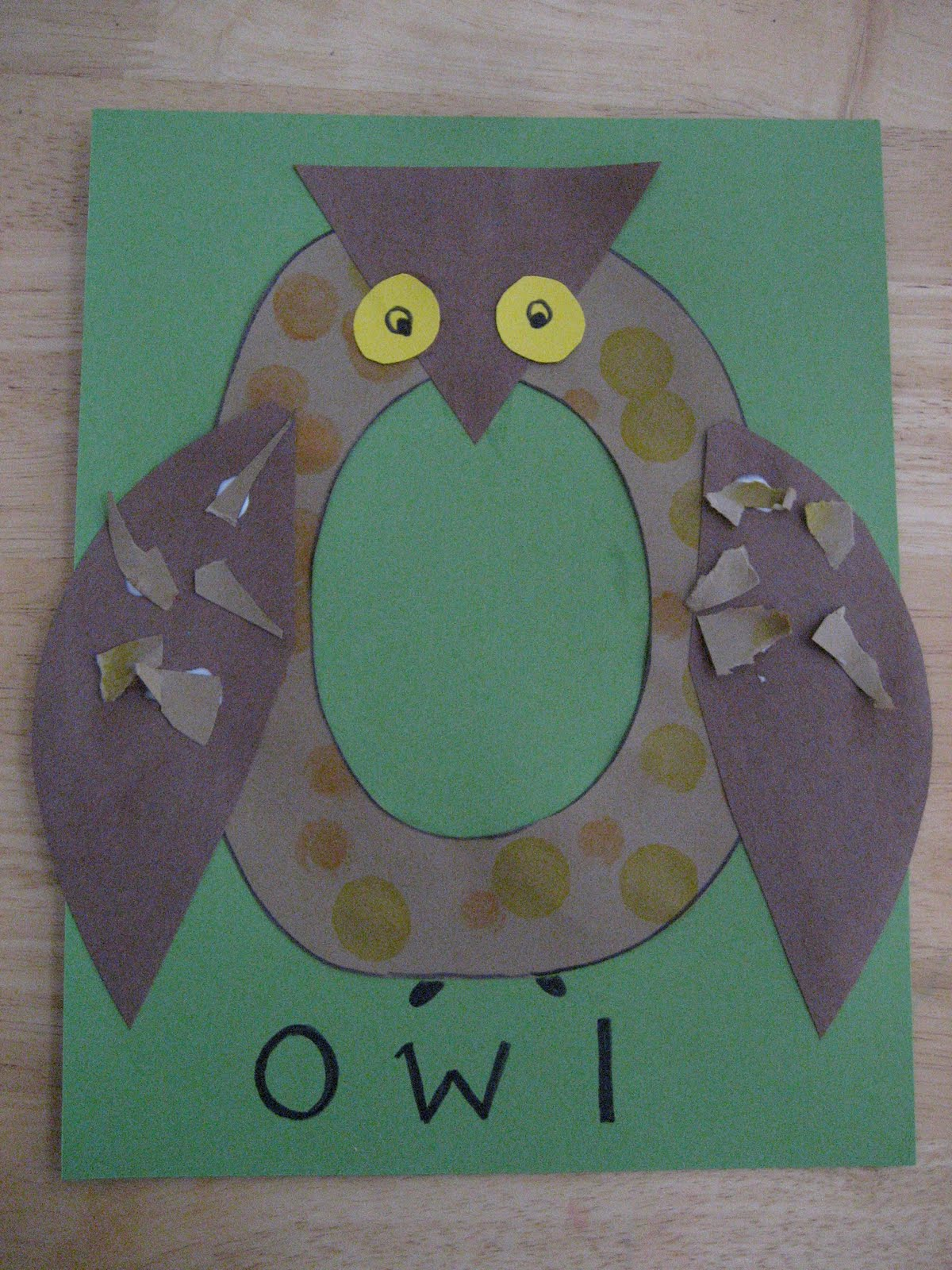 Toddler approved textured letter o owl for Letter o crafts for preschool