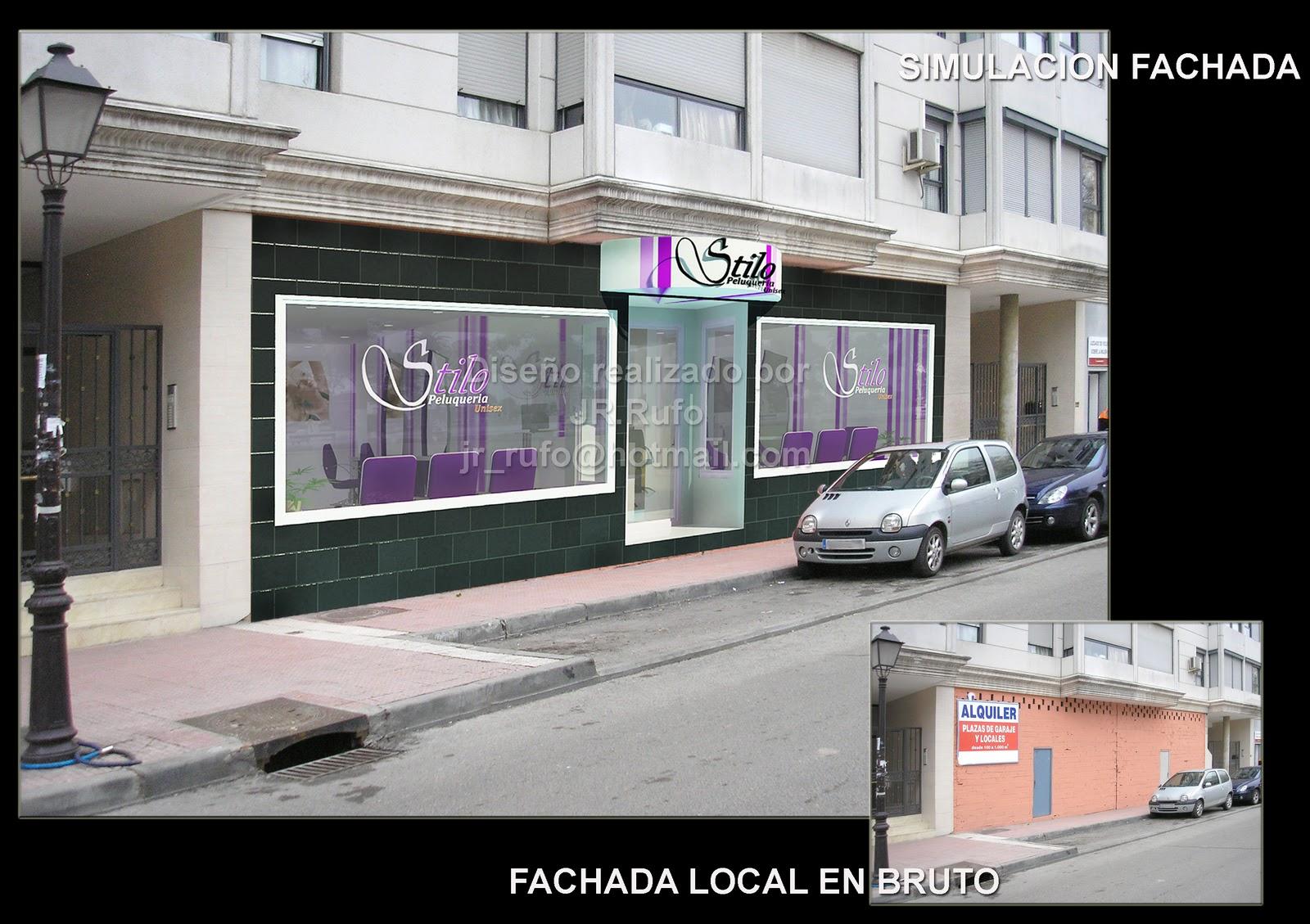Jrr proyectos peluqueria y centro de estetica - Fachadas de peluquerias ...