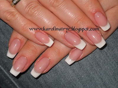 Beautiful Nail Art: Uv Gel Natural Overlay- Pink And White- French