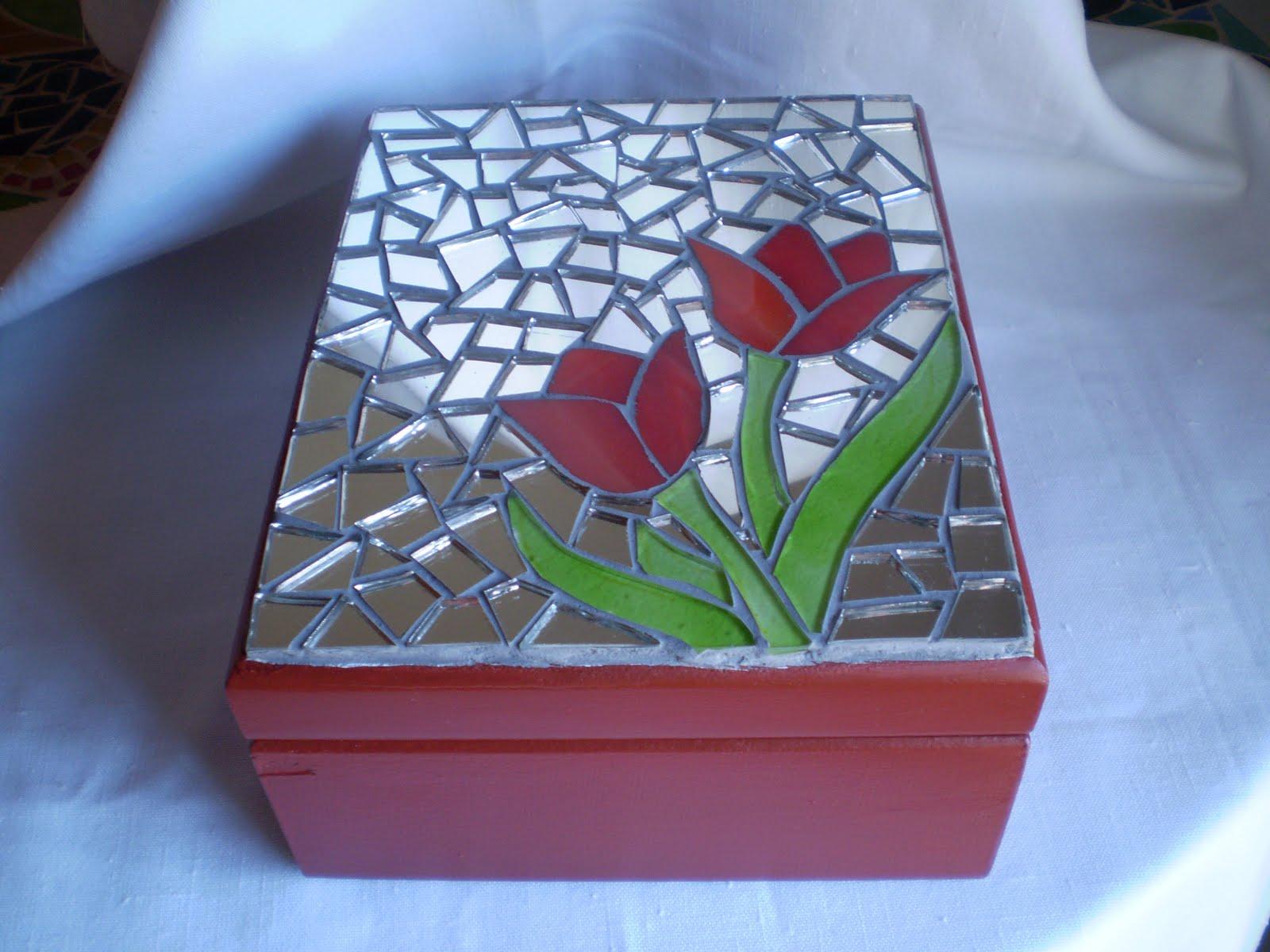 Artesanias la era de acuario caja de te - Mosaico de madera ...