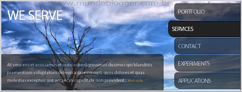 Slideshow com Menu no Blogger