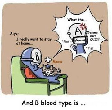 Funny Blood Type Personality Part