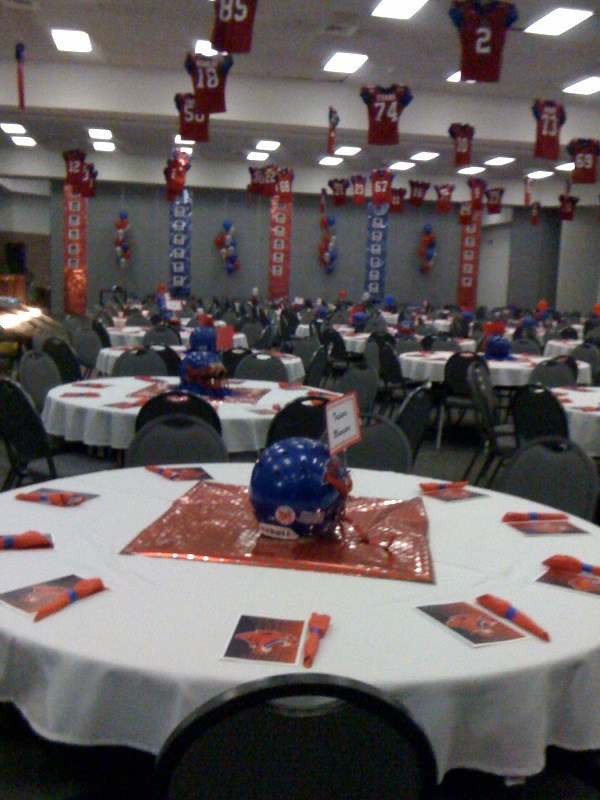 Football banquet decorating ideas for tables just b use