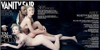 Совершенно обнаженные блондинки с алыми губами Скарлетт Йоханссон и Кира Найтли на фотографии в журнале