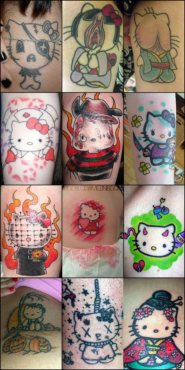 Pictures Of Hello Kitty Tattoos. 2011 hello kitty devil. domo