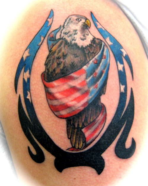 american flag tattoos for men. american flag eagle tattoo.