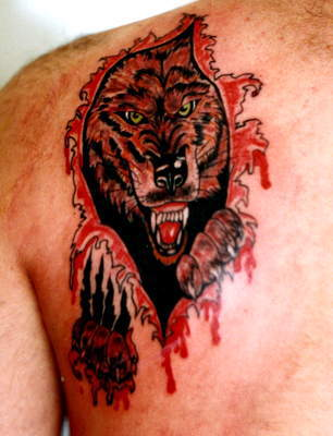 tribal wolf tattoos. tribal wolf tattoos.
