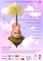 Concert de caritate - 20 mai, ora 18.00, Cercul Militar Cluj