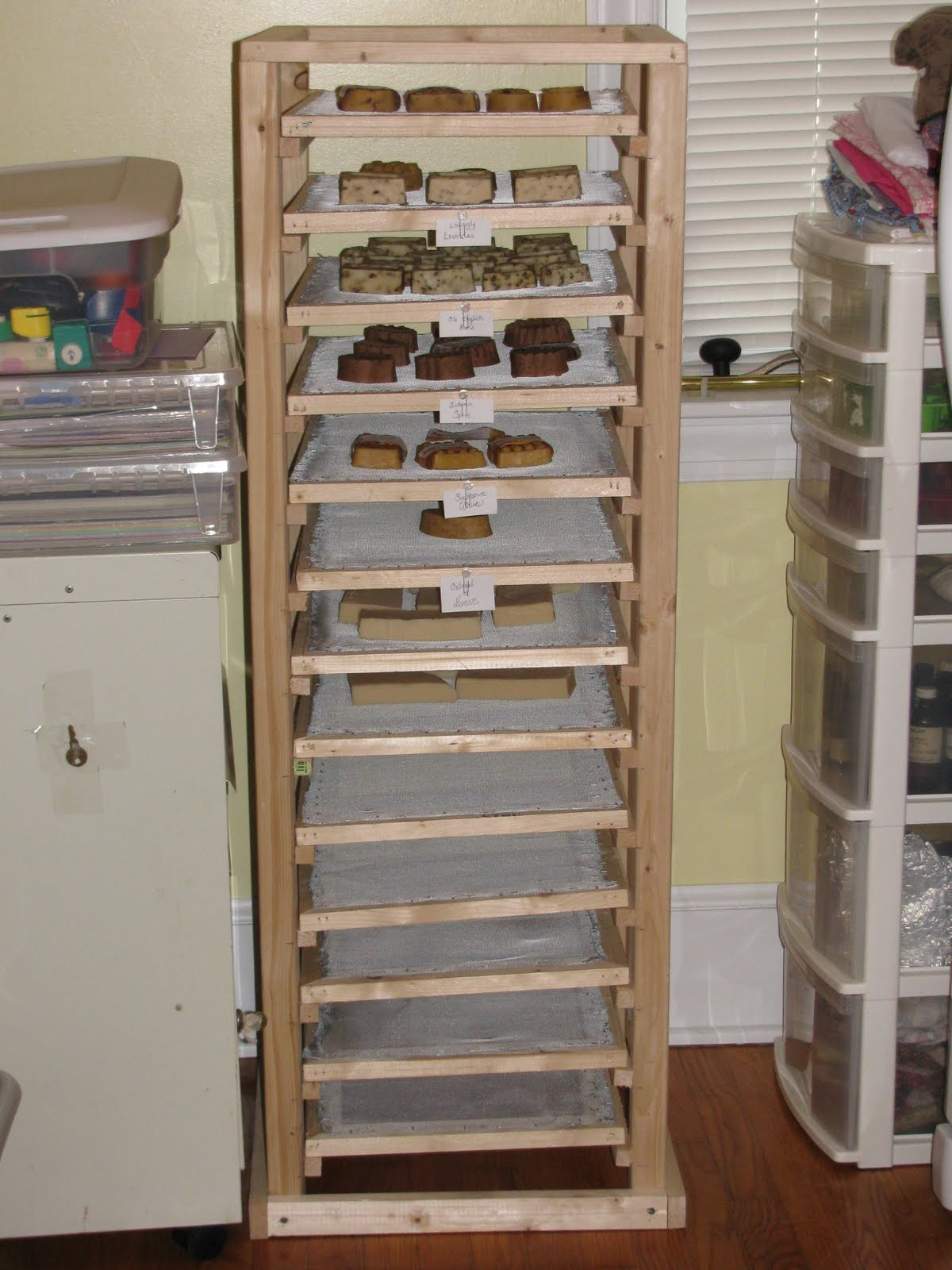 ... skills to practice this past week as he made me this soap curing rack
