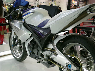 Modif Yamaha Vixion Putih