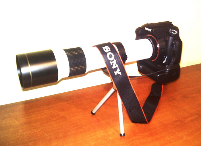 a minha 3º- SONY ALFA 350 + OBJECTIVA 500 MM
