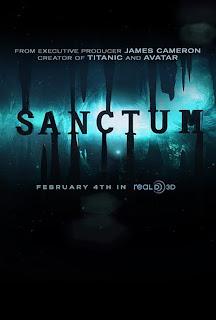 Cartel oficial de la película Sanctum estrenada en febrero de 2011