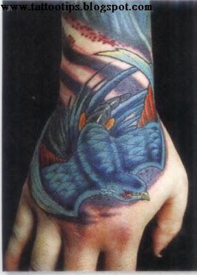 Blue flower Tattoos Gallery
