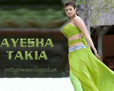 Ayesha Takia sexy green wear