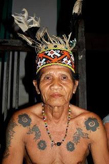 dayak tribe tattoo style