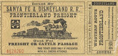 Vintage Disneyland Tickets: A day at Disneyland - 1955/56