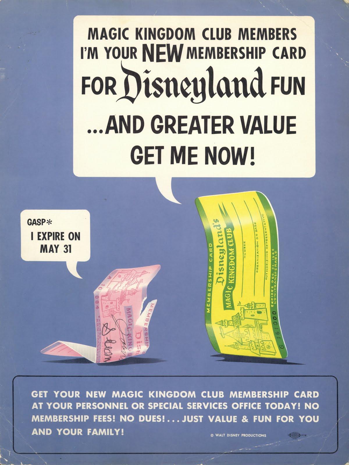 Vintage disneyland tickets magic kingdom club membership card 1966 magic kingdom club membership card 1966 publicscrutiny Images