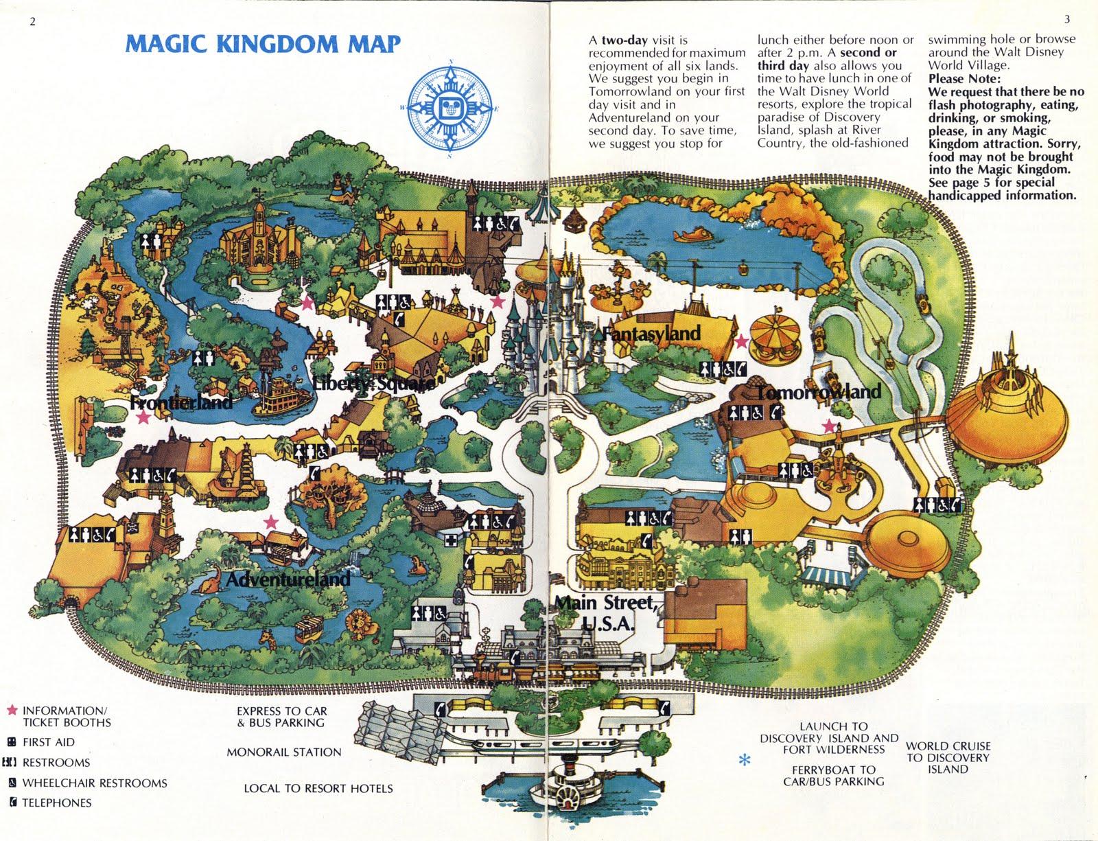 Vintage Disneyland Tickets: Magic Kingdom (WDW) 2-day Passport - 1981