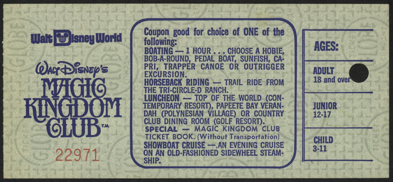 Notice The Globe Safety Paper Has A Different Pattern Than Park Tickets How About Some Vintage WDW