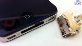 USB port Damaged, the iPhone 4 Burned
