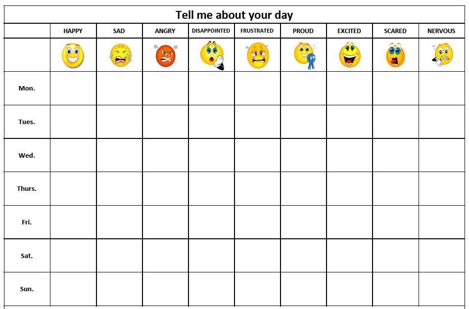 Feeling Chart. Feeling Face Book {Emotions} 41 Best Mood Charts