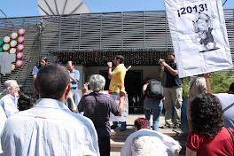 Manifestacion frente al canal 9 en contra de la persecucion sindical.17 de diciembre de 2010