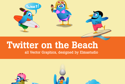 35 Beautiful Twitter Icons Sets 35 Beautiful Twitter Icons Sets twitter on the beach