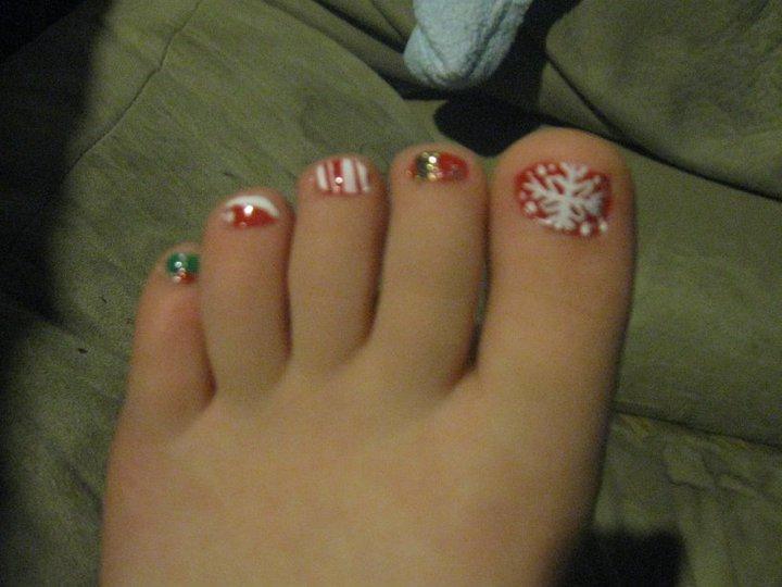 Christmas Toe Nail Polish Ideas Hession Hairdressing