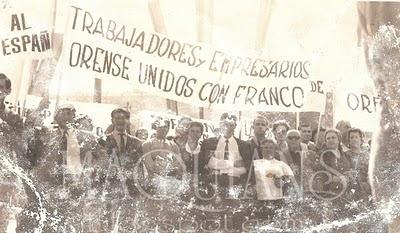 Manifestacion Pro Franco Ribadavia