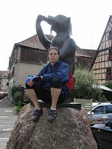 Mon fils Alexandre à Andlau en Alsace