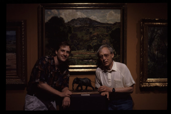 The master of make-up/effects Dick Smith with me and my elephant (CAC Gold Medal Exhibition)