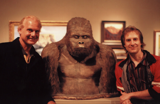 with California art club president peter adams (and my gorilla).