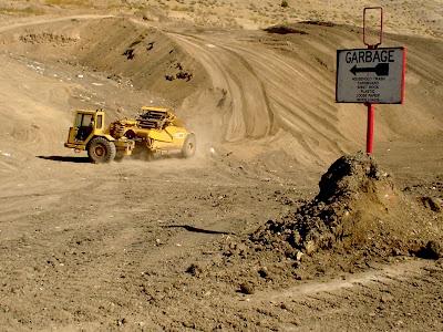 garbage landfill, Thermopolis, Wyoming