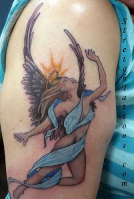 angel tattoo stretch m2