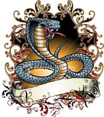 How To Draw A King Cobra Snake enlarge. Cobra Tattoo Picture.