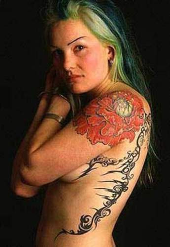 woman tattoos. Free Image of Half Sleeve Tattoo Designs For Women Under