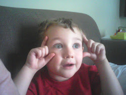 """One of the many """"face"""" pictures Sean sent to Grandma to make her smile"""