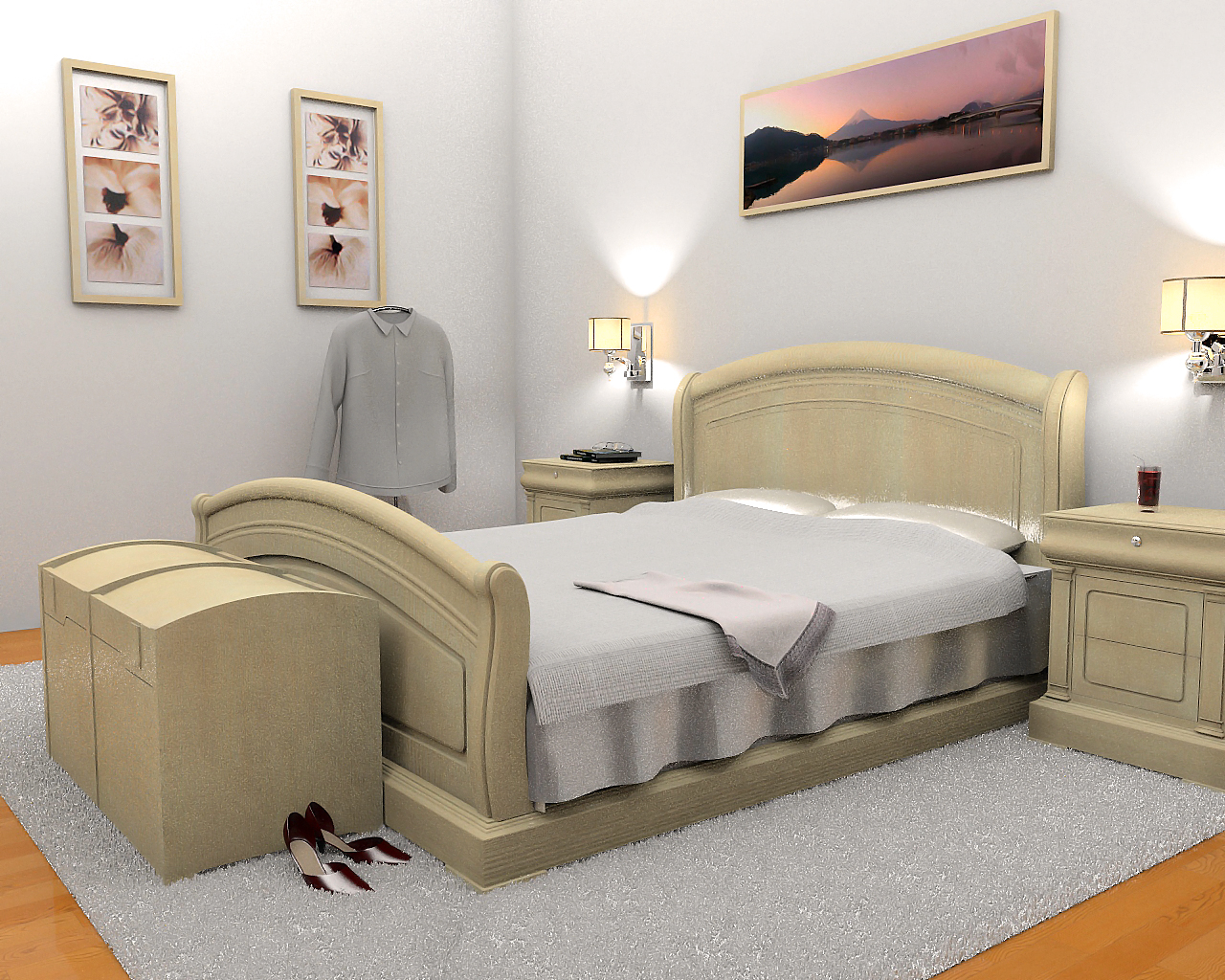 3d interior design models by paz sieiro for Bedroom ideas quiz