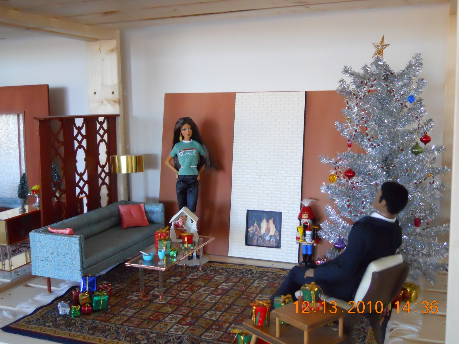 The fashion doll review my play scale christmas diorama for Living room 10 play