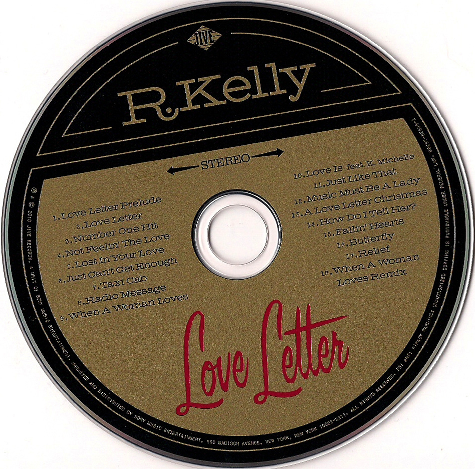 kelly love letter cd r kelly love letter inlay