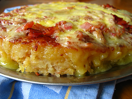 Linno-Yum: Rösti (Potato Pancake) With Cheese And Bacon