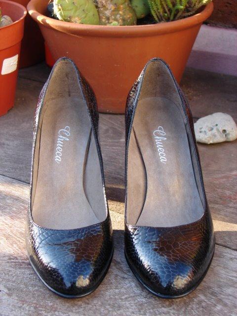 Zapatos Taco Alto - Negro Dolce