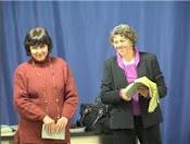 La escritora Susy Delgado y la profesora-escritora Alai García Diniz (Simposio en Florianopolis.Br)