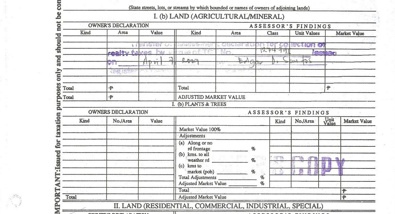 shela u0026 39 s etc  etc  tax declaration sample copy