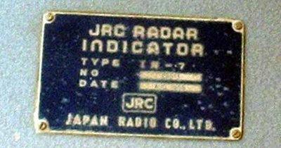 Placa de identificação do radar