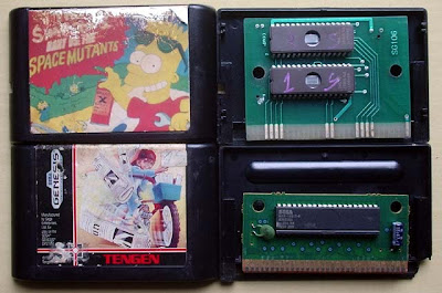 Cartuchos Paperboy (Sega Genesis Americano) e Bart Vs the Space Mutants (Sem marca)